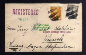 B3145 Brief USA 1933 Freiheitsstatue New York Einschreiben Phoenix Baltimore