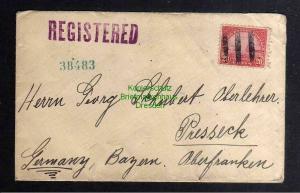 B3144 Brief USA 1932 Golden Gate 279 Einschreiben Phoenix Club of Baltimore