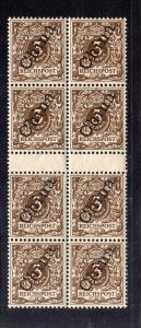 B2154 Deutsche Post in China 8x 1 IIa ** postfrisch gepr. 2x Viererblock mit Zwi