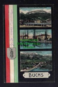 Ansichtskarte Buchs SG Kanton St. Gallen 1907 Alvier Margelkopf Bahnhof Am Schlosswe