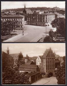 2 Ansichtskarte Stolp i Pom. Herzogbrücke Mühlentor um 1925