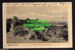 Ansichtskarte Niechorze Seebad Horst Düne mit Herenbad 1924
