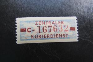 DDR ZKD Dienstmarken Wertstreifen B 20 C ** Original !!!
