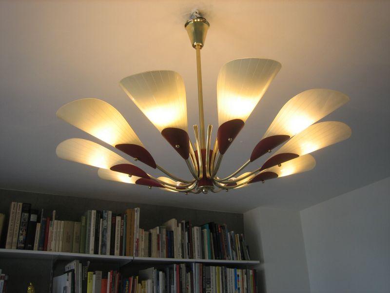 deckenlampe sputnik lampe original 50er 60er jahre oldthing deckenlampen. Black Bedroom Furniture Sets. Home Design Ideas