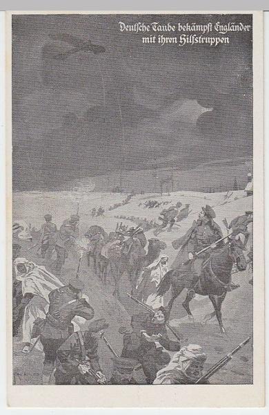 (5267) AK Militaria, Taube, Engländer, Hilfstruppen 1914-18