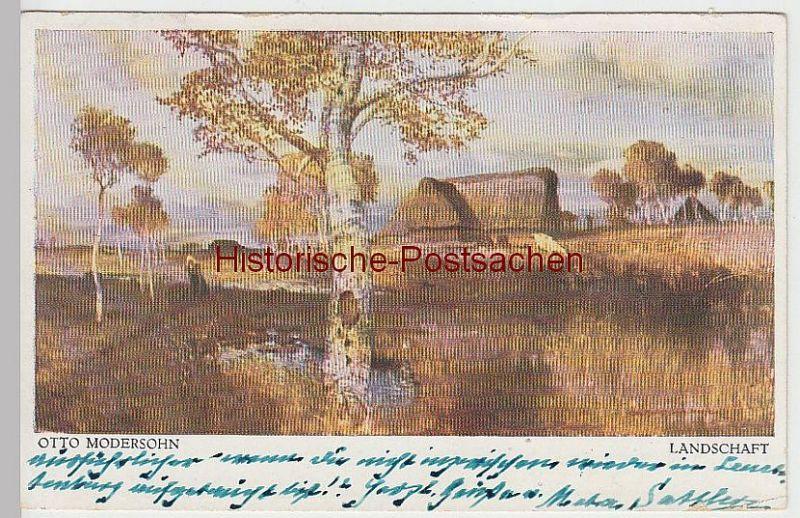 (39175) Künstler AK Otto Modersohn: Landschaft, 1951