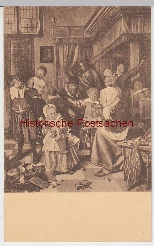 (41342) Künstler AK Jan Steen: St. Nikolausfest