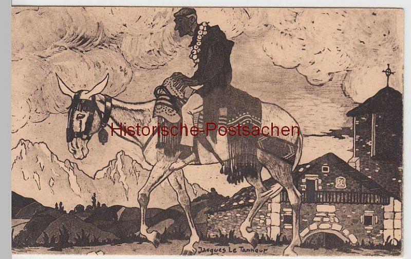 (60397) Künstler AK Jaques Le Tanneur: Le Retour vor 1945