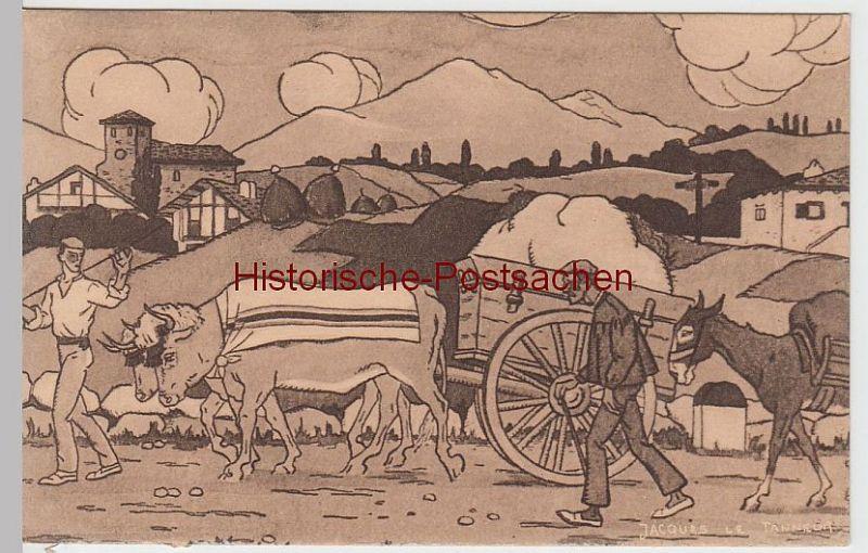(60400) Künstler AK Jaques Le Tanneur: Sur La Route vor 1945