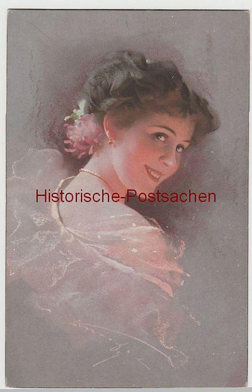 (80179) Künstler AK Porträt einer jungen Dame, 1910