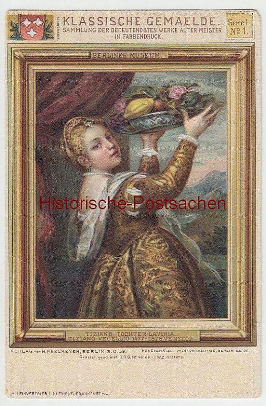 (38297) AK Gemälde von Tiziano Vecellio: Tizians Tochter Lavinia, vor 1905