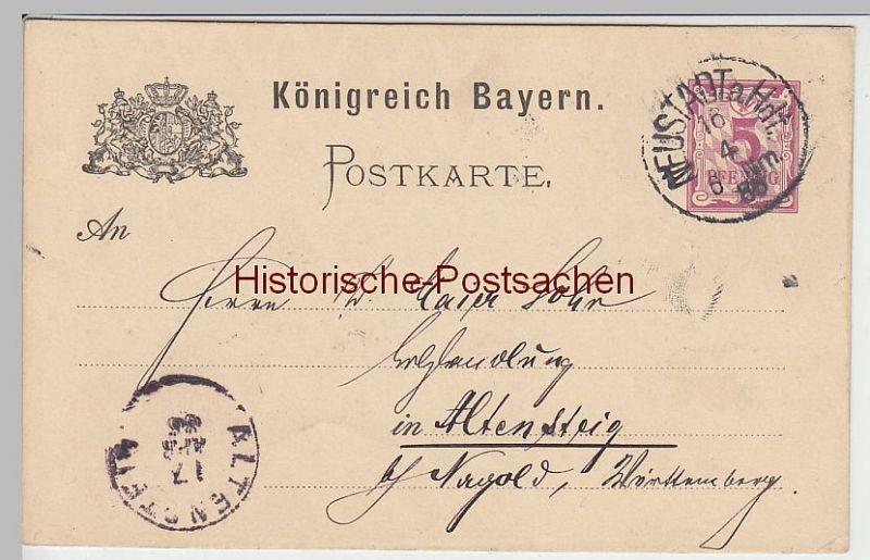 (45147) Ganzsache Bayern 1886