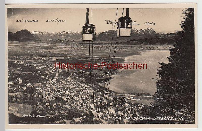 (38604) Foto AK Bregenz am Bodensee, Pfänderbahn, 1933