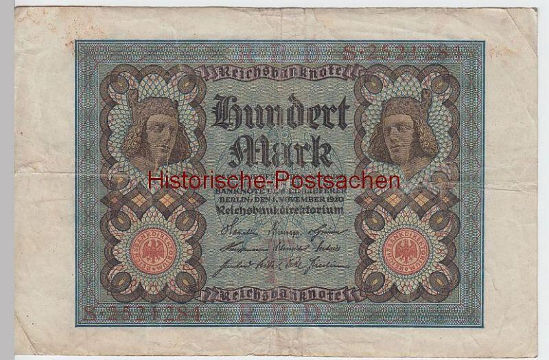 (D288+) Reichsbanknote, 100 Mark, Berlin November 1920