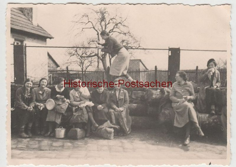 (F3975) Orig. Foto Ausfahrt Kaiserslautern, Rast i.d. Umgebung 1936