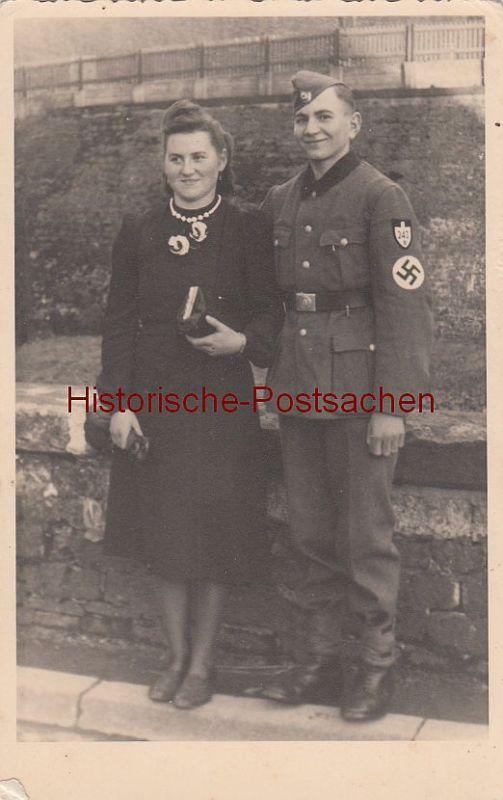 (F4093-) Orig. Foto 2.WK RAD Angehöriger m. Schwester in Türkismühle