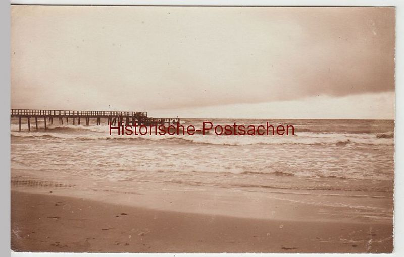 (44148) Foto AK Ostsee, Nordsee-Strand (?), Seebrücke