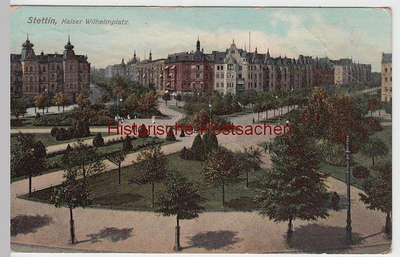 (51865) AK Stettin, Szczecin, Kaiser Wilhelm-Platz, 1907