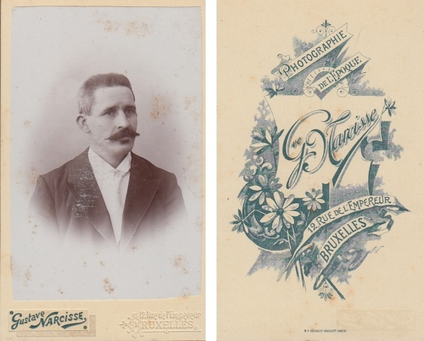 (F15+) Original Foto um 1900 Mann (Kabinettfoto)