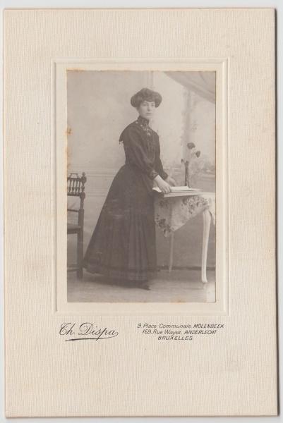 (F34+) Original Foto um 1900 Frau (Kabinettfoto)