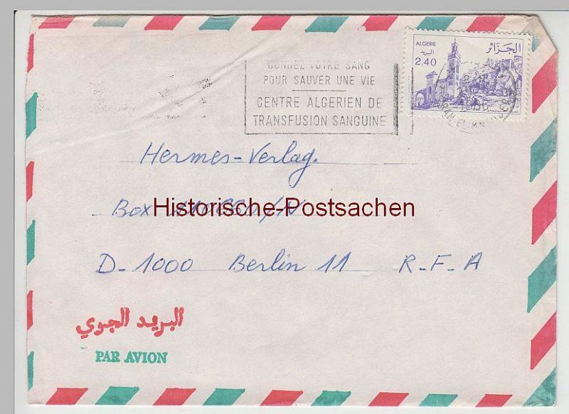 (B2398+) Bedarfsbrief Algerien, 1986