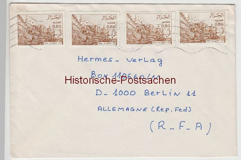 (B2399+) Bedarfsbrief Algerien, 1986
