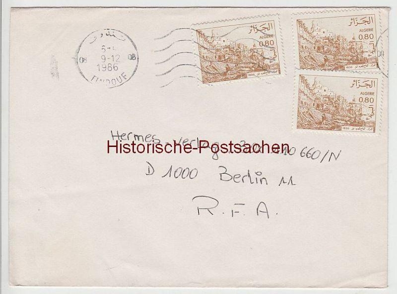 (B2401+) Bedarfsbrief Algerien, 1986