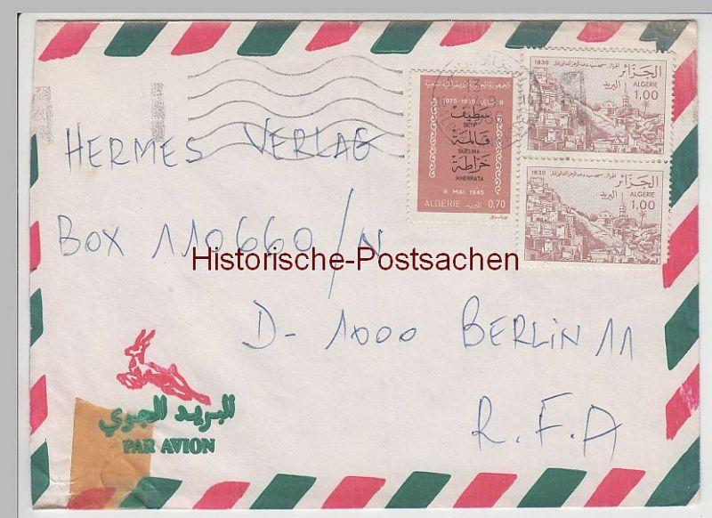 (B2402+) Bedarfsbrief Algerien, 1986