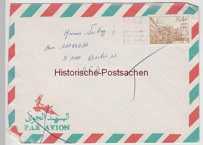 (B2405+) Bedarfsbrief Algerien, 1986
