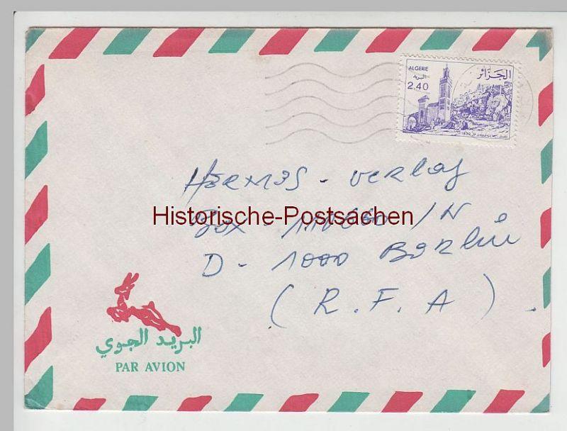 (B2406+) Bedarfsbrief Algerien, 1986