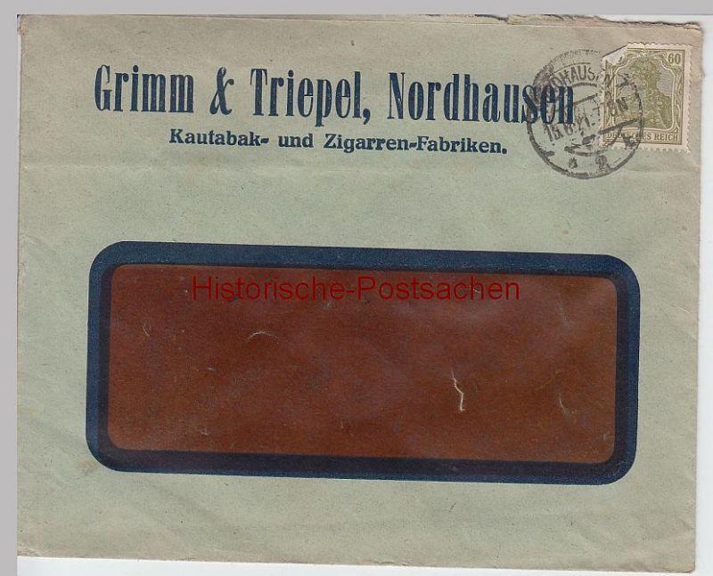 (B1905+) Bedarfsbrief Deutsches Reich, Stempel Nordhausen 1921