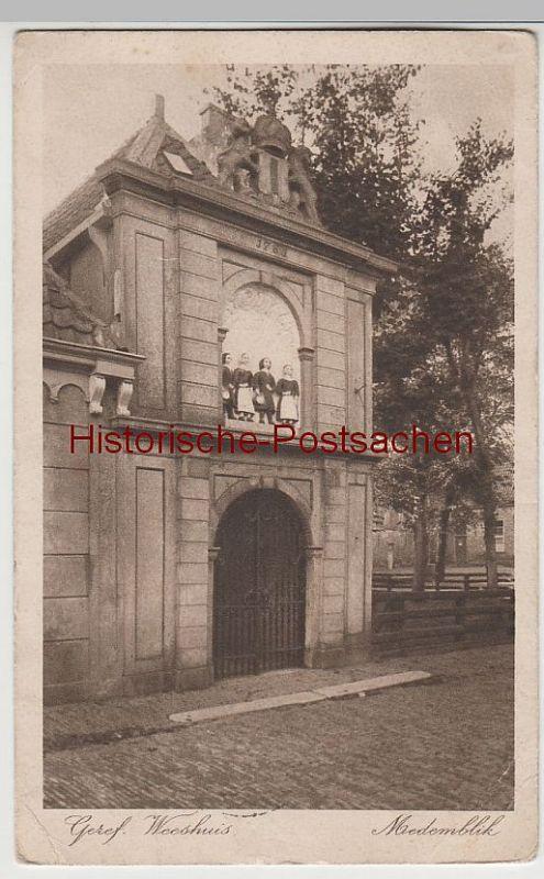 (81090) AK Medemblik, Weeshuis 1921