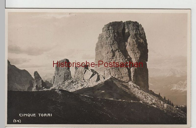 (67658) Foto AK Cinque Torri, fünf Türme, Dolomiten