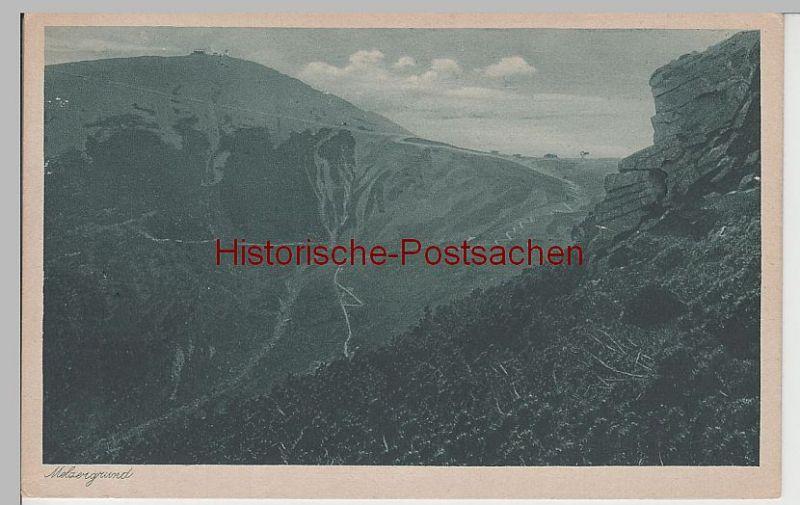 (71278) AK Riesengebirge, Melzergrund mit Schneekoppe, vor 1945