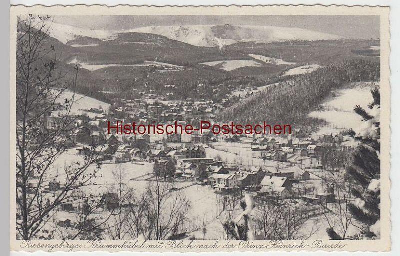 (41940) AK Krummhübel, Karpacz m. Blick z. Prinz Heinrich-Baude, 1936
