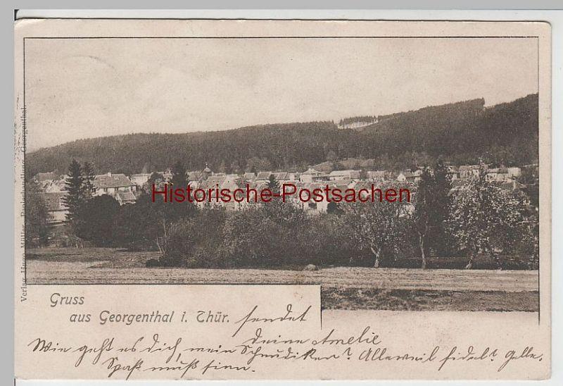 (65306) AK Gruss aus Georgenthal, Panorama 1901