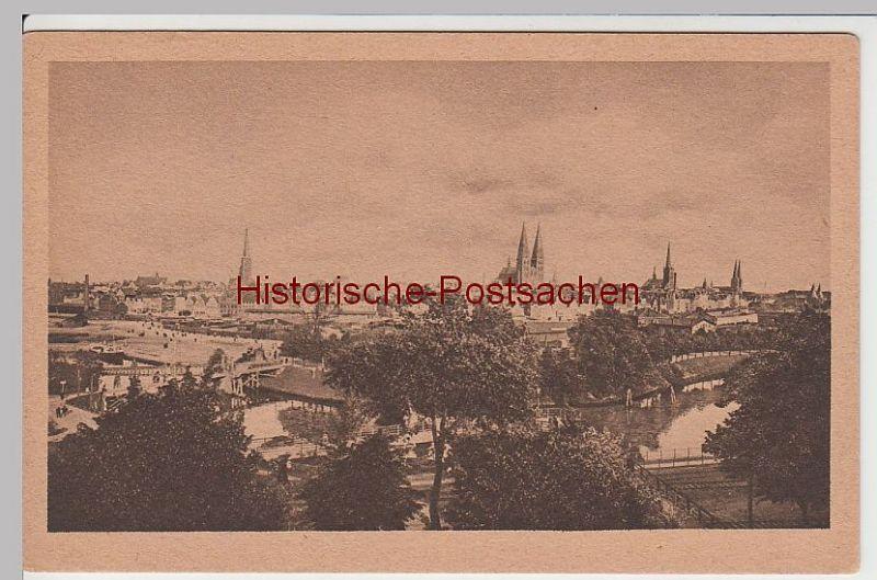 (57953) AK Lübeck, Panorama von Westen, vor 1945