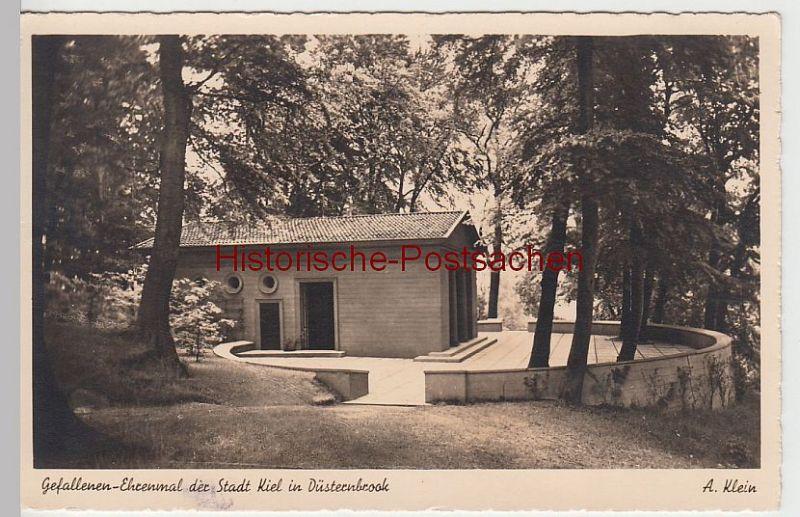 (57957) Foto AK Kiel, Düsternbrooker Gehölz, Gefallenen-Ehrenmal, v. 1945