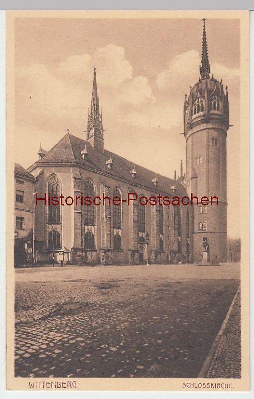 (50330) AK Wittenberg, Schloßkirche, vor 1945