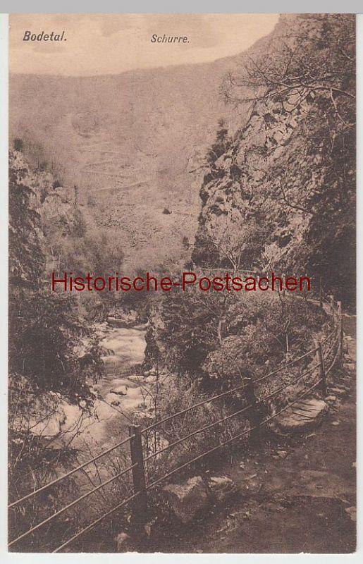 (51256) AK Bodetal, Schurre, vor 1945