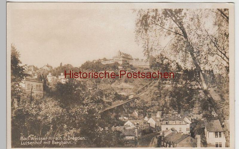 (73714) Foto AK Dresden, Loschwitz, Drahtseilbahn, Luisenhof, vor 1945