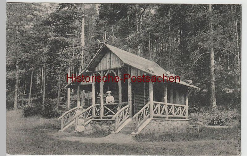 (76257) AK Bad Elster, Blockhütte im Zeidelweidetal 1912 0
