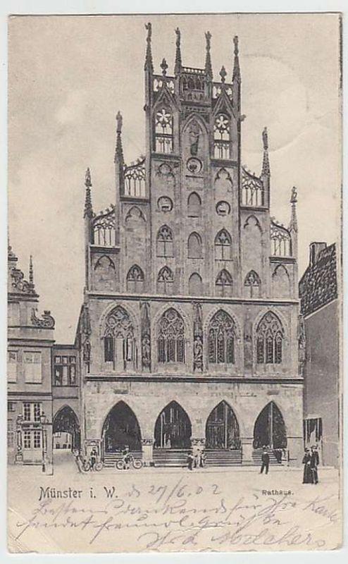 (29312) AK Münster, Westf., Rathaus 1902