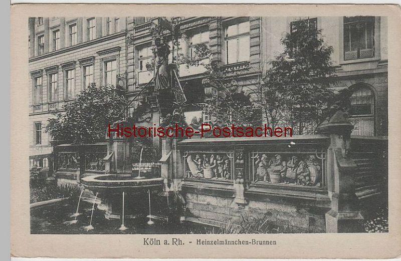 (65741) AK Köln, Heinzelmännchen-Brunnen vor 1945
