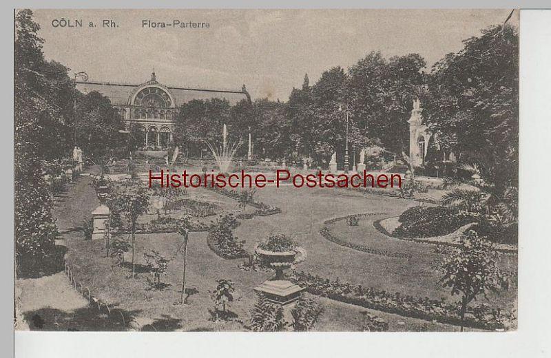 (79747) AK Köln, Flora-Parterre, 1919
