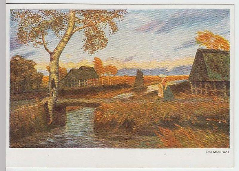 (29220) Künstler AK Otto Modersohn: Abend in Niedersachsen, um 1940