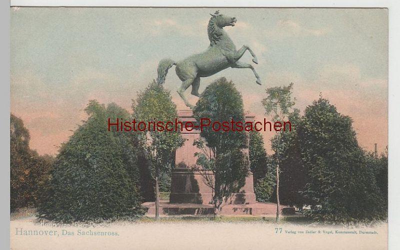 (68428) AK Hannover, Denkmal Sachsenross, bis 1905