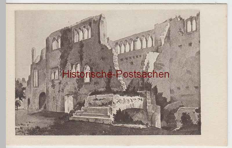 (50681) Künstler AK C. Bronner: Münzenberg, Burg, Palasansicht