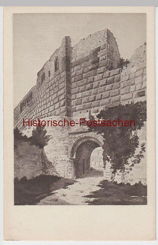 (50682) Künstler AK C. Bronner: Münzenberg, Burg, Innerer Eingang