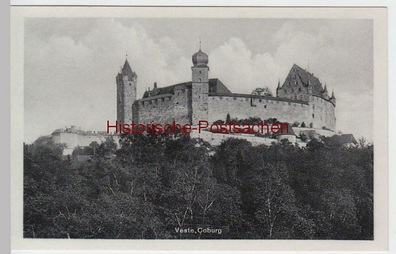 "(46876) AK Veste Coburg, m. Stempel d. Gaststätte ""Loreley"""